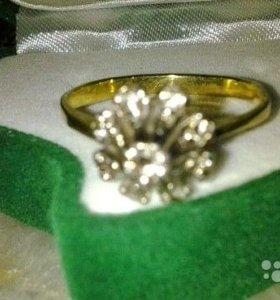 Кольцо с бриллиантами 750 проба