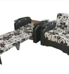 """""""Кресло-кровать"""" с хромированными накладками №4"""