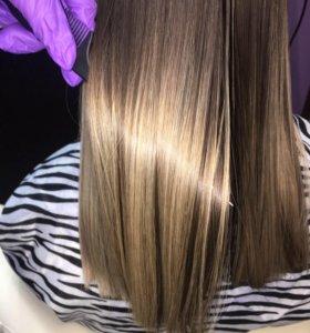 Кератин, ботокс, наращивание волос