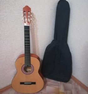 гитара (colombo).для начинающих.+чехол.