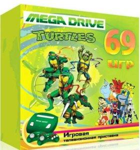 Приставка Sega +69игр, новая, сега