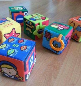 Развивающая игрушка. КУБИКИ ПАЗЛЫ