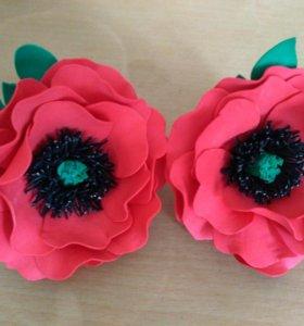 Резиночки цветы из фоамирана.