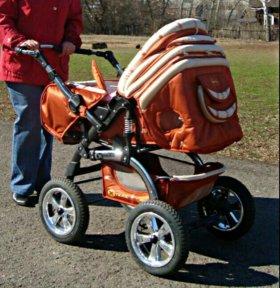 Коляска+ сумка переноска+ сумка для родителя