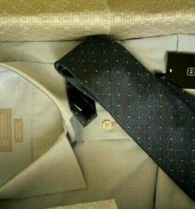 Новый комплект henderson рубашка с галстуком 43