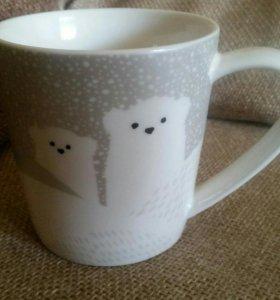 Кружка Starbucks с мишками