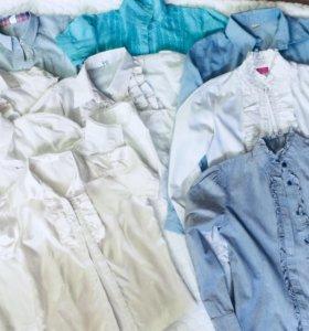 Рубашки школьные пакетом