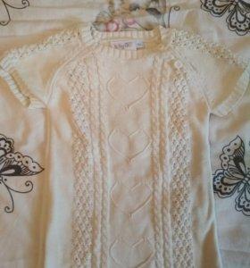 Хлопковое вязаное платье