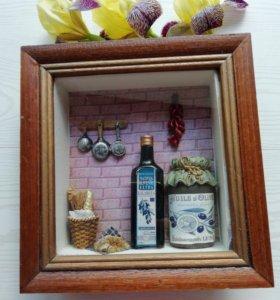 Картина,  Артколлаж на стену для кухни, столовой