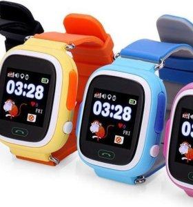 Умные смарт детские часы Q80 с Wi-Fi