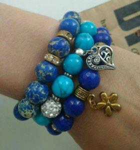 Новые браслеты из натуральных камней
