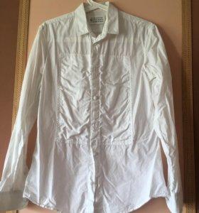 Рубашка мужская хлопок белая, размер M