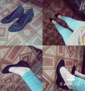 Туфли чёрные бархот...