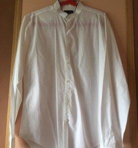 Рубашка мужская белая Zara, размер M