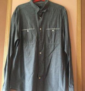 Рубашка мужская серая, H&M размер L