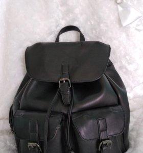 Немецкий кожаный рюкзак + подарок