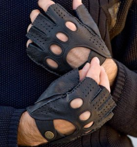 Перчатки мужские (митенки) новые Alpa Gloves, кожа