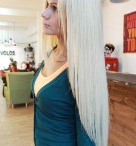 Волосы для наращивания с работой мастера