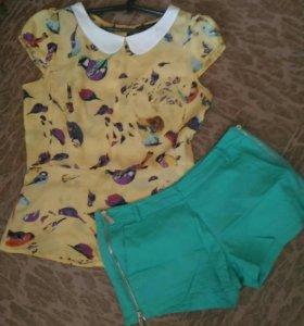 Блузка с шортиками на замочках