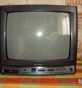 Телевизор Funai в комплекте с цифровой приставкой