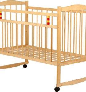 Детская кроватка с матрасом бу