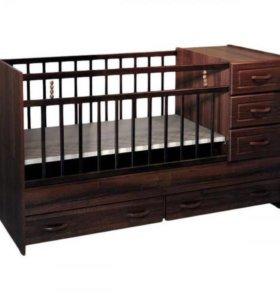 Детская кроватка и коляска