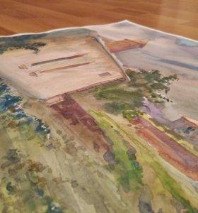 Картина акварелью,акварель,живопись
