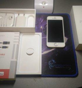 iPhone 5s 16 gb +Кабель в нейлоновой оплетке