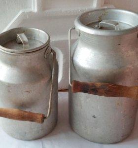 Бидон фляга алюминиевый молочный 3л и 2,5л СССР