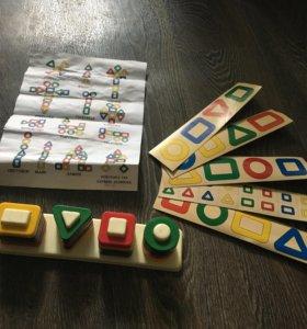 Развивающая игрушка «цветные столбики»