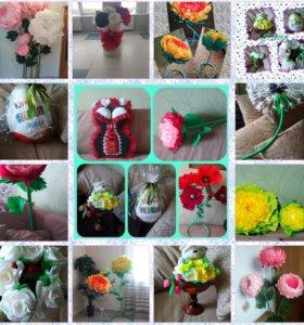 Подарки. Букеты. Ростовые цветы.