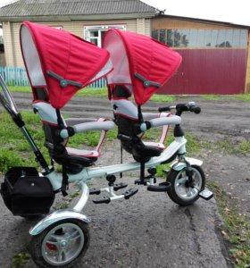 Велосипед детский двухместный