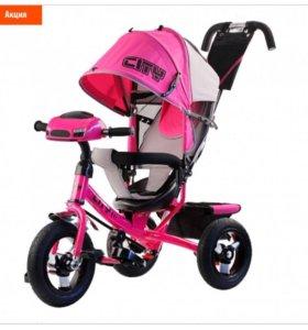 Трехколёсный велосипед для девочки,новый