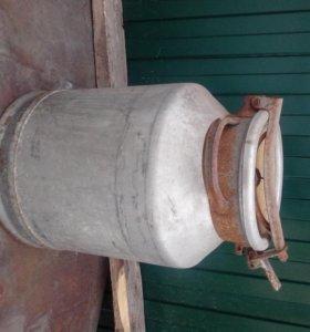 молочный алюминиевый бидон 38 литров