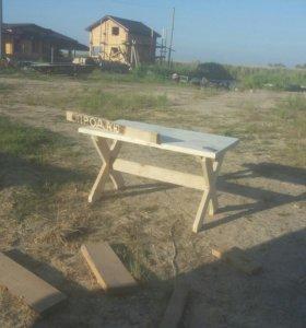 Деревянный стол 150×90.