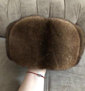 Норковая шапка ушанка ( полная)