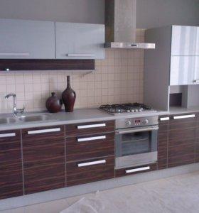 Кухня Зебрано - Сизый Глянец