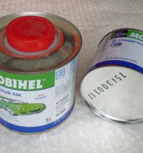 Лак бесцветный Mobihel и отвердитель