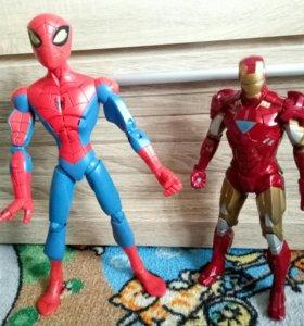 Человек паук, железный человек