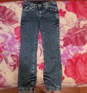 джинсы на байке теплые