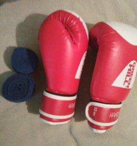Боксерские перчатки почти новый