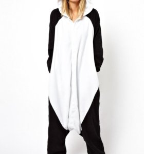 пижама кигуруми панда весёлая, грустная