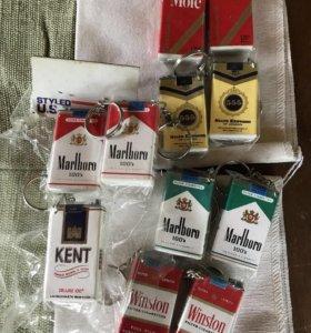 Брелки новые из 90х «пачки сигарет@