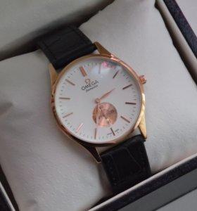 Часы мужские Omega черный ремешок