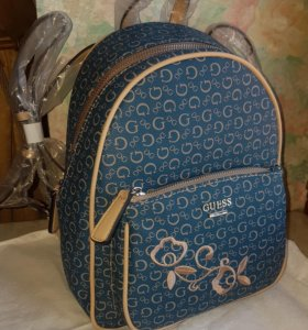 Guess рюкзак синий с вышивкой и др