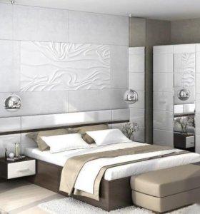 Спальня Ненси белый глянец, с подъемным мех.