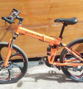 Новый горный велосипед на литье с блоком вилки