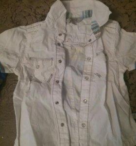 Детская рубашка с коротким и длинным рукавом