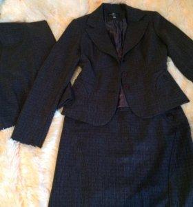 Костюм тройка(брюки, прямая юбка, пиджак)