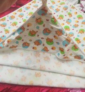 Уголок-полотенце с капюшоном хлопок